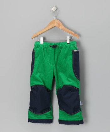 Green & Navy Kuu Pants - Infant, Toddler & Boys