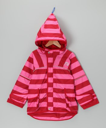 Pink & Red Leif Jacket - Infant, Toddler & Girls
