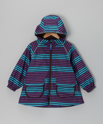 Sky & Purple Lokki Jacket - Infant, Toddler & Girls