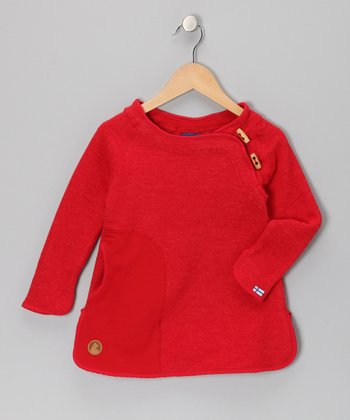 Red Satu Wool-Blend Tunic - Infant, Toddler & Girls