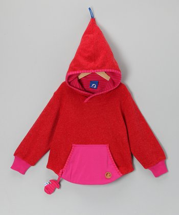 Magenta Skunkkivilla Wool-Blend Hoodie - Infant, Toddler & Girls