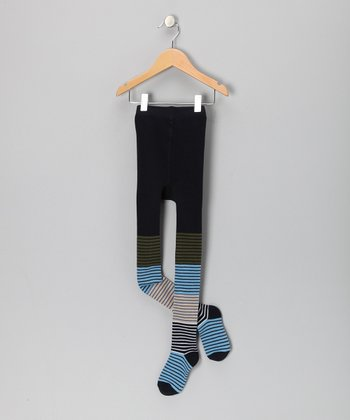 Blue Stripe Sukkis Tights - Infant, Toddler & Kids