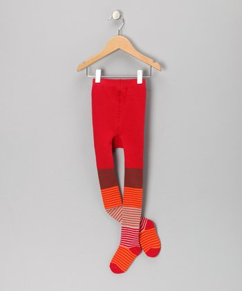 Red Stripe Sukkis Tights - Infant, Toddler & Kids