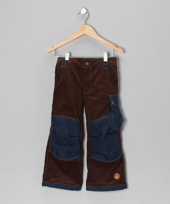 Brown & Navy Tomppa Pants - Infant, Toddler & Boys