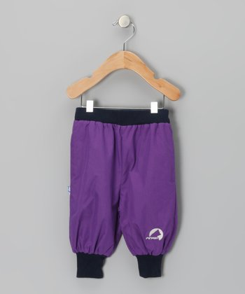 Purple Tuplakupla Reversible Pants - Infant, Toddler & Girls
