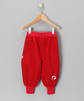 Red Tuplakupla Reversible Pants - Infant, Toddler & Kids