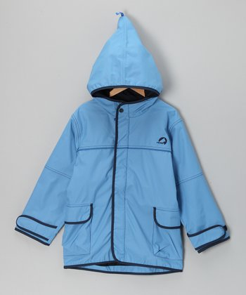 Aqua & Navy Tuulis Jacket - Infant & Boys