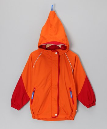 Orange & Red Vesisade Rain Jacket - Infant, Toddler & Boys