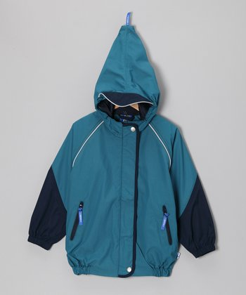 Seaport & Navy Vesisade Rain Jacket - Infant, Toddler & Boys