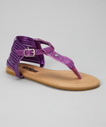 Purple Glitter Sandal