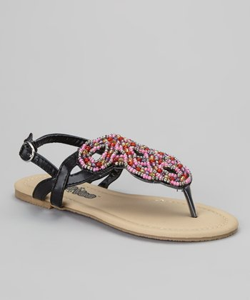 Black Beaded Sandal