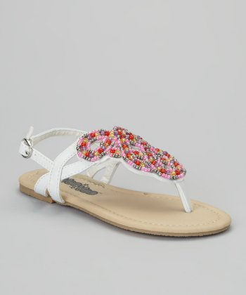 White Beaded Sandal