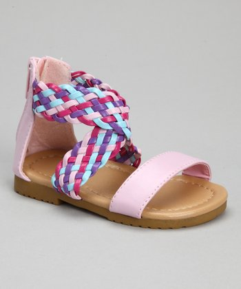 Light Pink Rainbow Braid Sandal