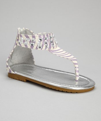 VeeVee Lilac Zebra Sparkle Sandal