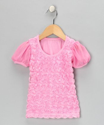 Pink Rosette Tee - Infant, Toddler & Girls
