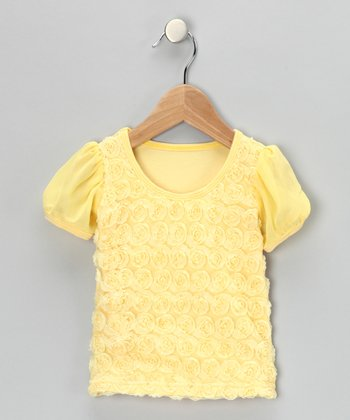 Yellow Rosette Tee - Infant, Toddler & Girls