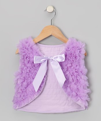 Lavender Chiffon Ruffle Vest - Toddler & Girls
