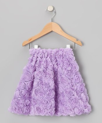Lavender Rosette Skirt - Toddler & Girls