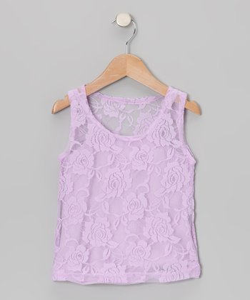 Lavender Camisole & Lace Tank - Toddler & Girls