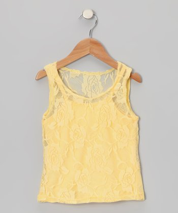 Yellow Lace Tank & Camisole - Toddler & Girls