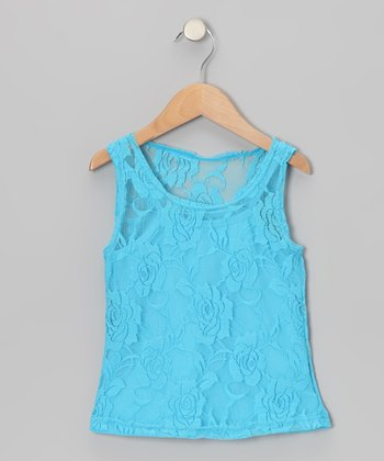 Turquoise Lace Tank & Camisole - Toddler & Girls