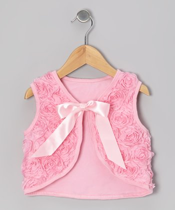 Pink Rosette Vest - Toddler & Girls