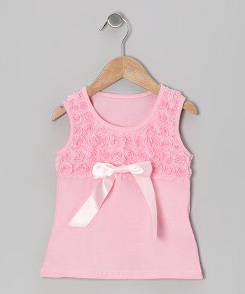 Pink Rosette Tank - Toddler & Girls