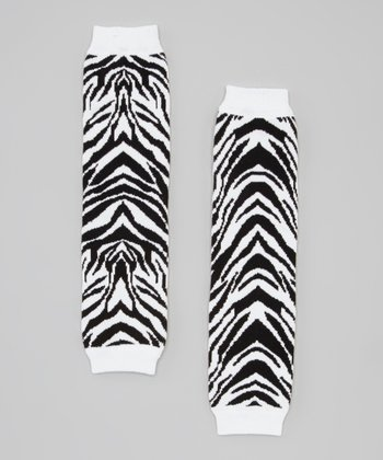 Black & White Zebra Leg Warmers