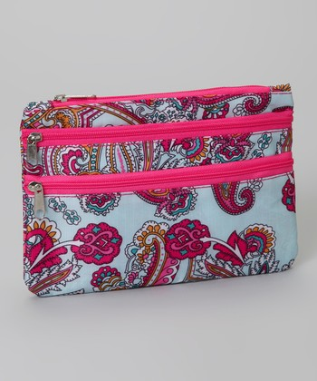 Blue & Pink Paisley Coin Purse