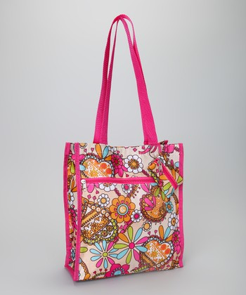 Pink & Yellow Flower Tote