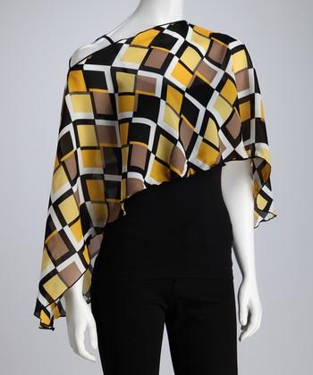 Reno Rose Black & Yellow Geometric Pirose Juli Nursing Cover
