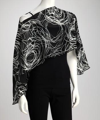 Reno Rose Black & White Swirl Pirose Minako Nursing Cover