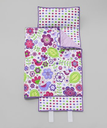 Purple Botanical Nap Mat