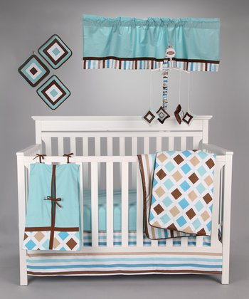 Mod Diamond & Stripe Crib Bedding Set
