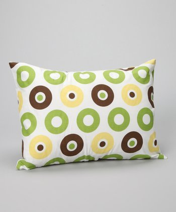 Green & Yellow Mod Dot & Stripe Boudoir Pillow