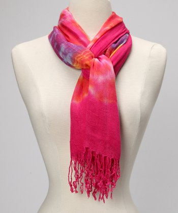 Hot Pink Kaleidoscope Scarf