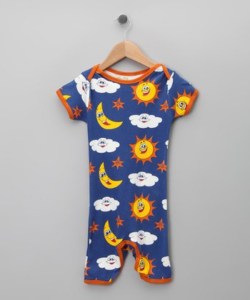 Royal Sky Organic Romper - Infant