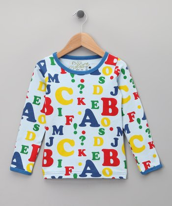 Blue Alphabet Organic Long-Sleeve Tee - Infant, Toddler & Kids