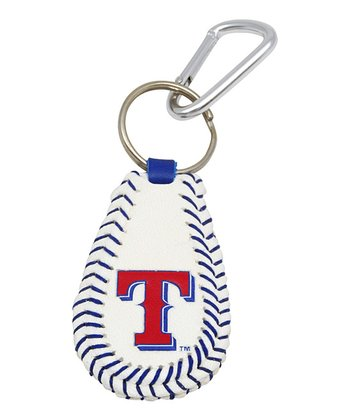 Texas Rangers Baseball Key Chain