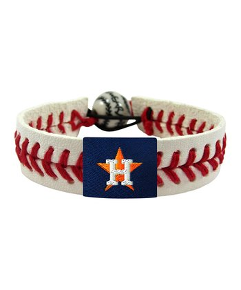 Houston Astros Classic Baseball Bracelet