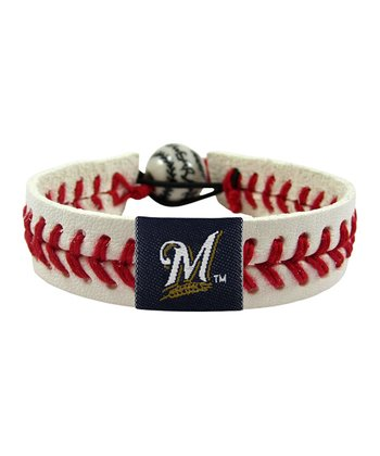 Milwaukee Brewers Classic Baseball Bracelet