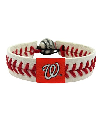 Washington Nationals Classic Baseball Bracelet