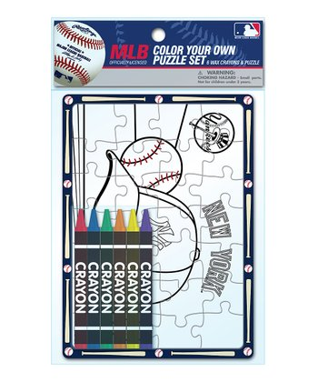 New York Yankees Color Your Own Puzzle Set