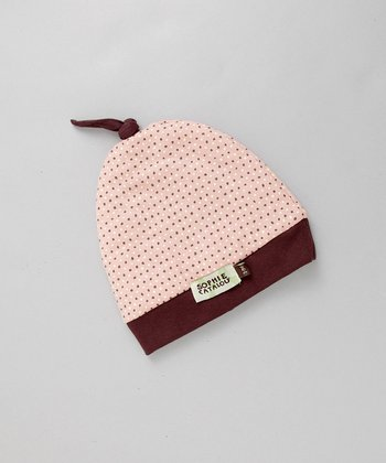 Pink Hat with Brown Knot