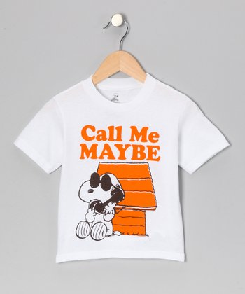 White Snoopy 'Call Me Maybe' Tee - Toddler