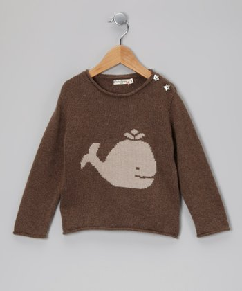 Brown Whale & Star Cashmere Sweater - Toddler & Kids