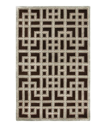 Brown Wool-Blend Wexler Modern Rug