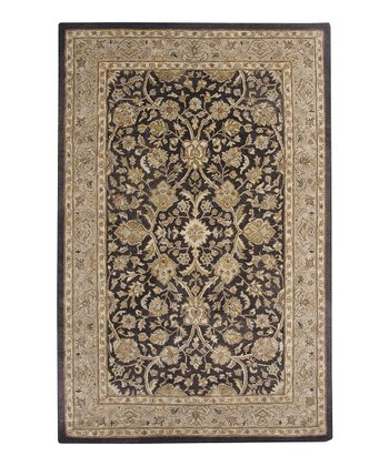 Charcoal & Cream Giro Ghazni Rug