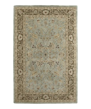 Light Blue & Brown Nawa Ghazni Rug
