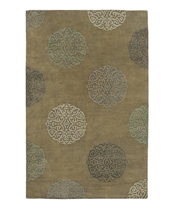 Olive Green Wool-Blend Mercer SoHo Rug